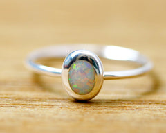 Stacking Ring,White Ring,Geode ring,October Birthstone,Opal Ring,gemstone ring,Agate ring,Fathersday,Stone ring,stone,opal,xmas,silver,tiny