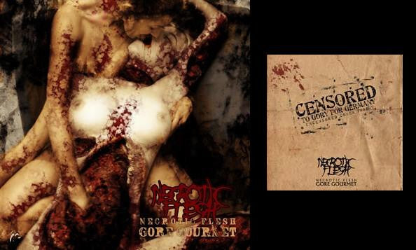 Necrotic Flesh- Gore Gourmet CD on MDD Records