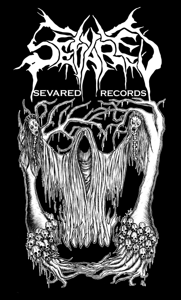 SEVARED RECORDS- Cloaked STICKER