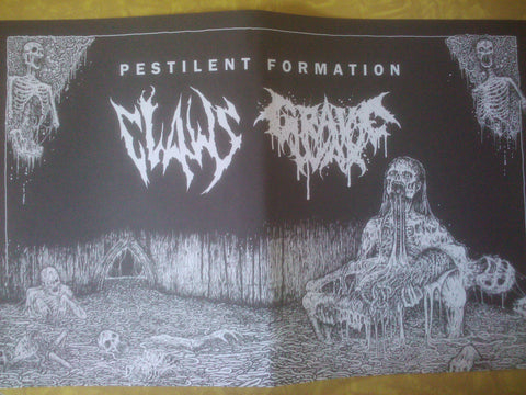 Claws / Grave Wax- Pestilent Formation POSTER