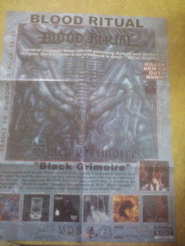 Blood Ritual- Black Grimoire Huge POSTER