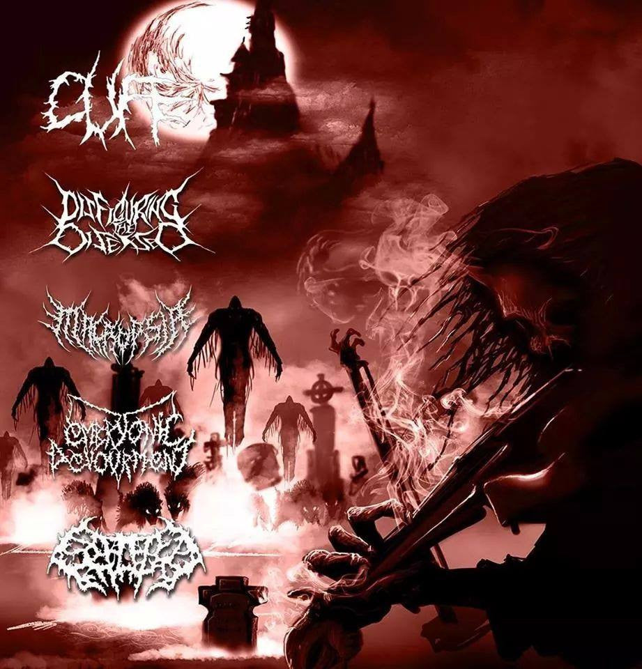 CUFF / EMBRYONIC DEVOURMENT / MACROPSIA / SPLATTERED ENTRAILS / DISFIGURING THE DISEASED- Split CD on Morbid Generation
