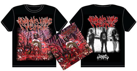 ANIMALS KILLING PEOPLE- Eat Your Murder CD / T-SHIRT PACKAGE PRE-ORDER!!!