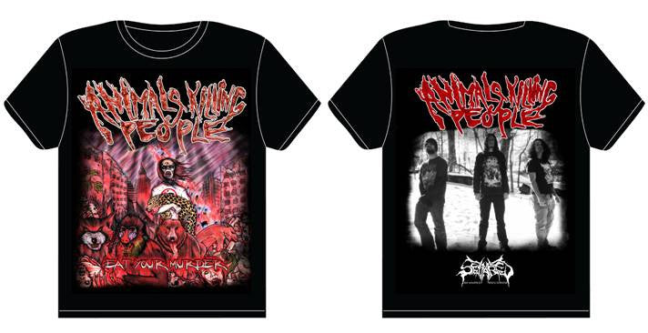 ANIMALS KILLING PEOPLE- Eat Your Murder T-SHIRT S-XXL OUT NOW!!