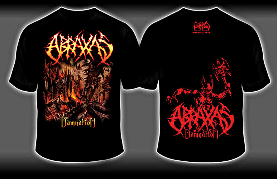 ABRAXAS- Damnation T-SHIRT X-LARGE