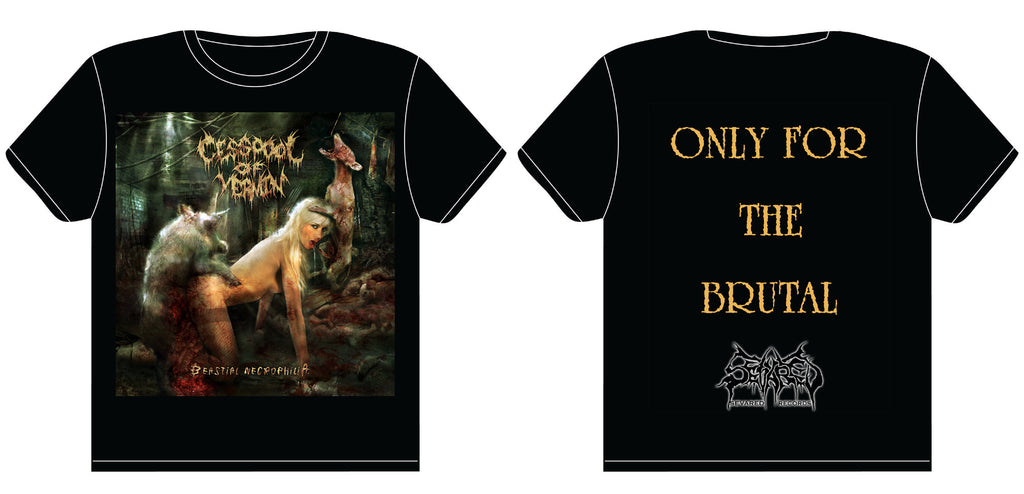 CESSPOOL OF VERMIN- Beastial Necrophilia T-SHIRT SMALL OUT NOW!!!