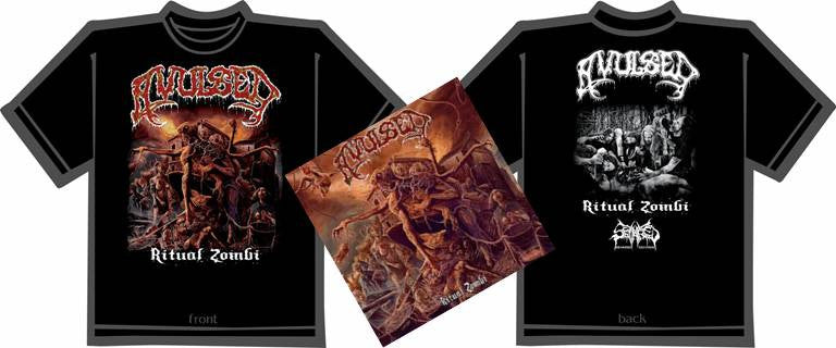 AVULSED- Ritual Zombi CD / T-SHIRT PACKAGE SMALL