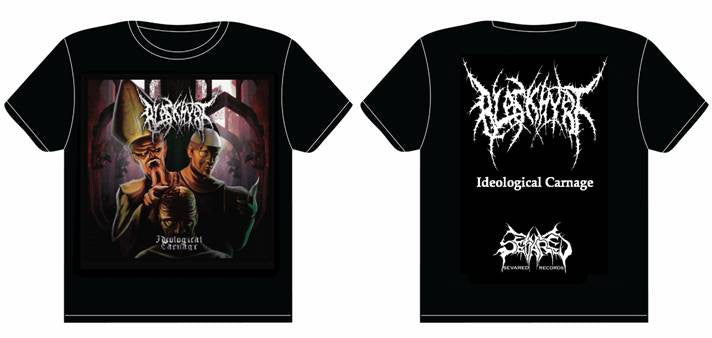 BLASKHYRT- Ideological Carnage T-SHIRT MEDIUM