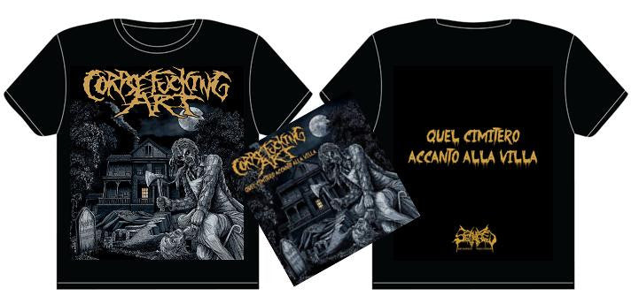 CORPSEFUCKING ART- Quel Cimitero... CD/ T-SHIRT PACK MEDIUM