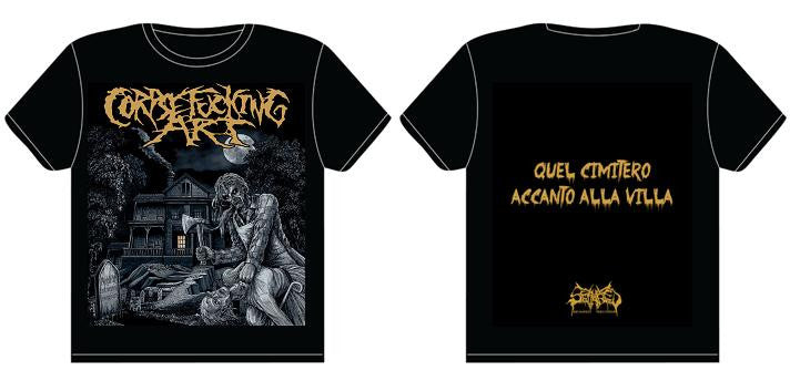CORPSEFUCKING ART- Quel Cimitero... T-SHIRT MEDIUM