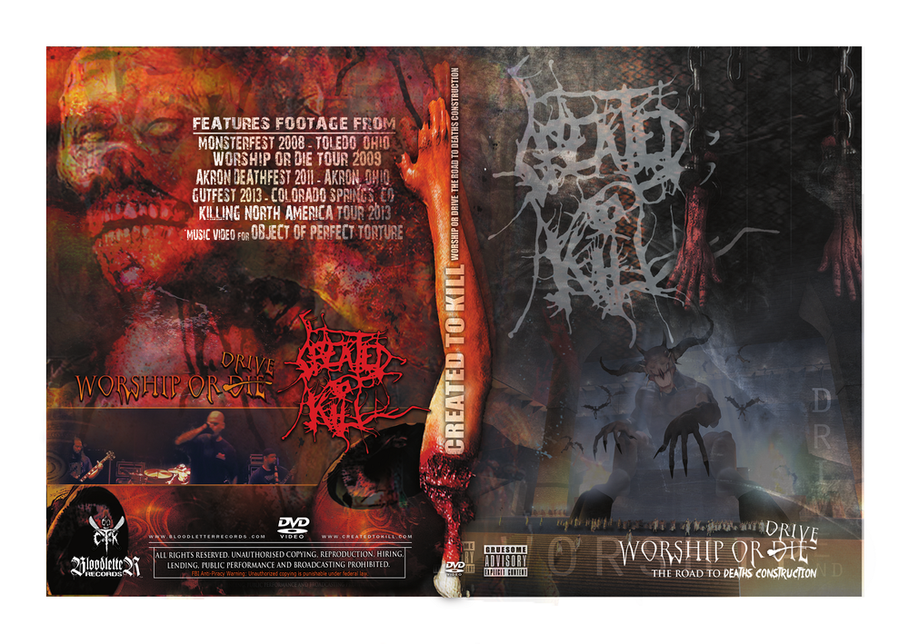 Created To Kill- Worship Or Drive... DVD
