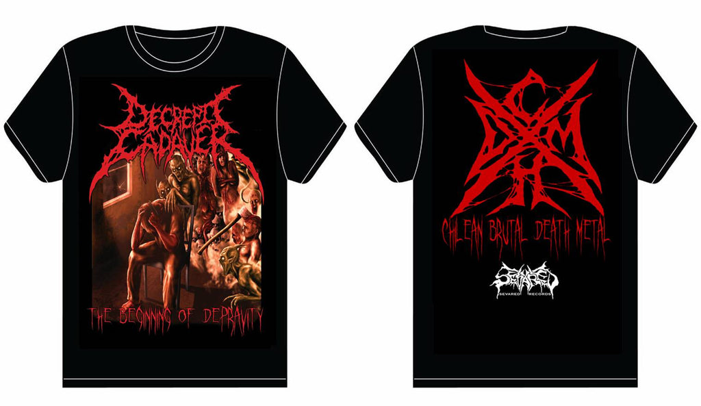 DECREPIT CADAVER- The Beginning Of Depravity T-SHIRT X-LARGE