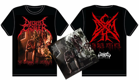 DECREPIT CADAVER- The Beginning.. CD / T-SHIRT PACKAGE LARGE