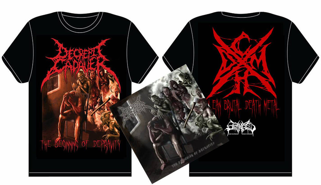 DECREPIT CADAVER- The Beginning.. CD / T-SHIRT PACKAGE X-LARGE