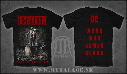 Desecration- Coffin Smasher T-SHIRT L & XL