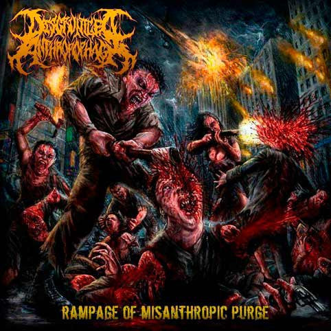 Disgruntled Anthropophagi- Rampage Of Misanthropic Purge CD on Coyote Rec.