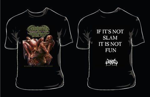 EXTIRPATING THE INFECTED- Reborn In Putrefaction T-SHIRT X-LARGE