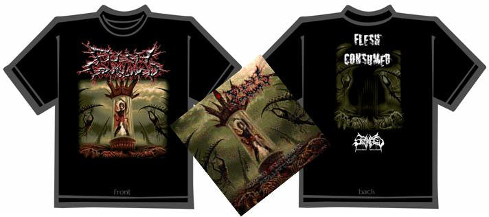FLESH CONSUMED- Collection CD / T-SHIRT PACK X-LARGE