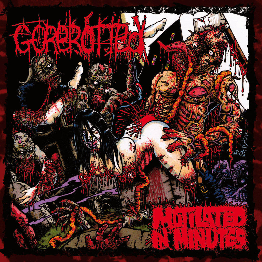 Gorerotted- Mutilated In Minutes CD on Relapse Records