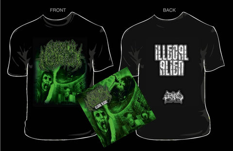 INTESTINAL ALIEN REFLUX- Illegal CD/T-SHIRT PACKAGE X-LARGE