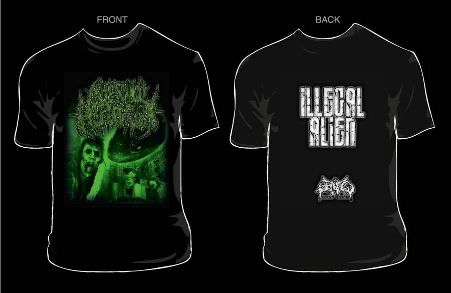 INTESTINAL ALIEN REFLUX- Illegal Aliens T-SHIRT X-LARGE