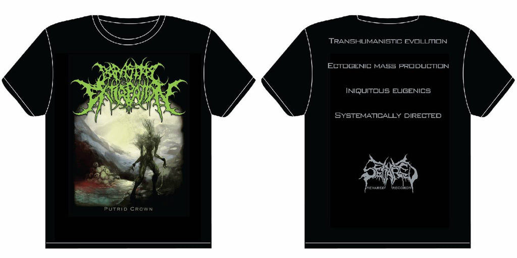 PARASITIC EXTIRPATION- Putrid Crown T-SHIRT LARGE