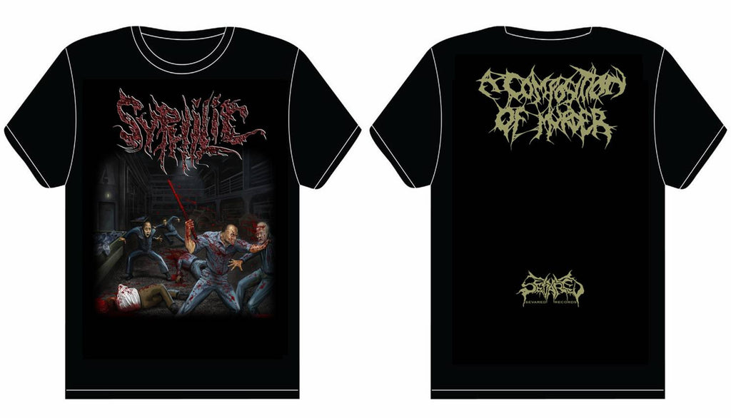 SYPHILIC- A Composition Of Murder T-SHIRT X-LARGE