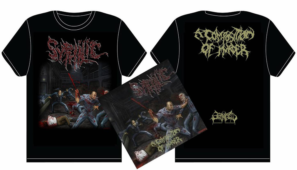 SYPHILIC- A Composition.. CD / T-SHIRT PACKAGE MEDIUM