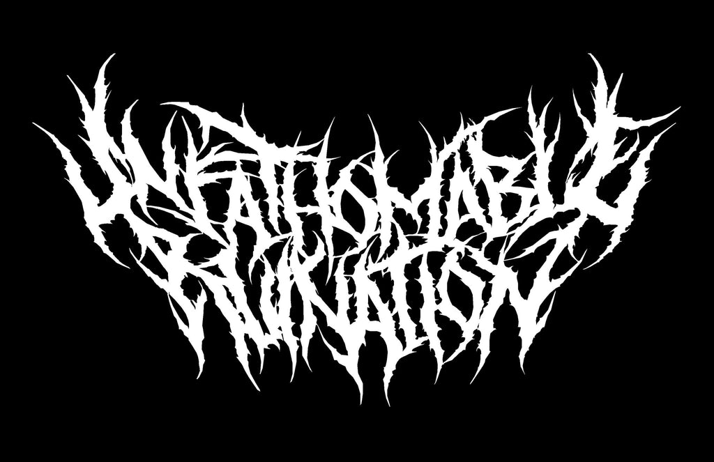 UNFATHOMABLE RUINATION- Logo Sticker