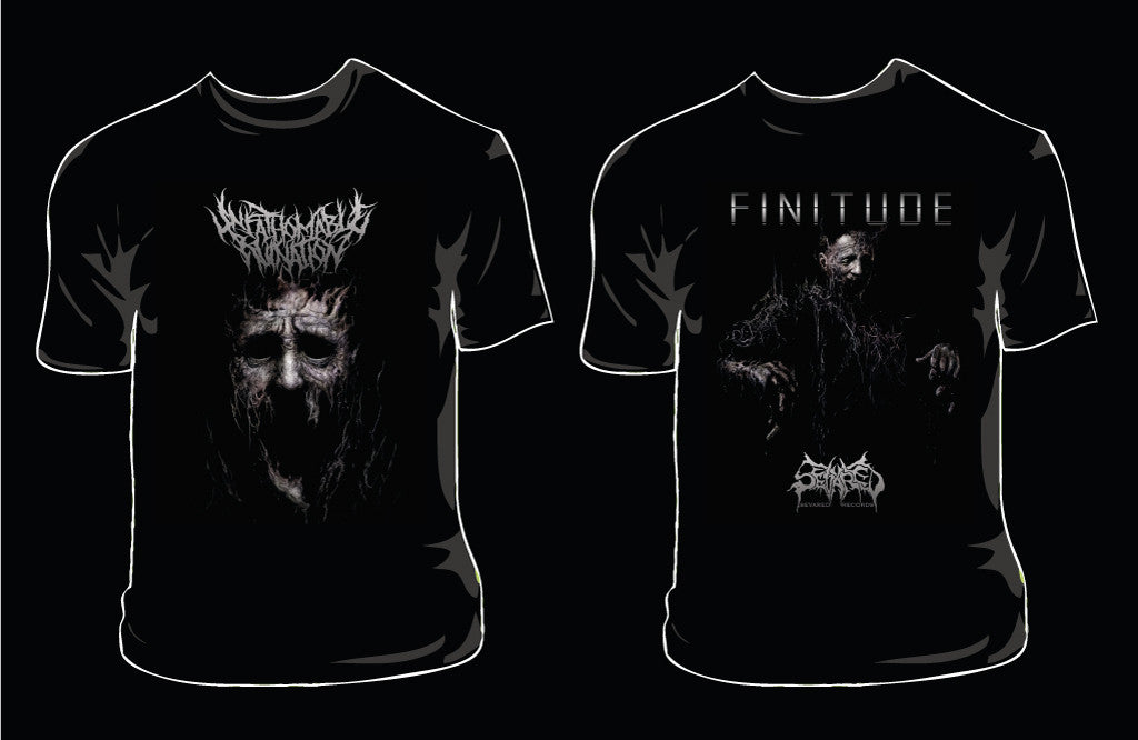UNFATHOMABLE RUINATION- Finitude SHORTSLEEVE T-SHIRT S-XXL OUT NOW!!!
