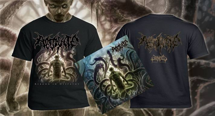 ABDICATE- Reborn In Dyspathy CD / T-SHIRT PACKAGE DEAL OUT NOW!!!