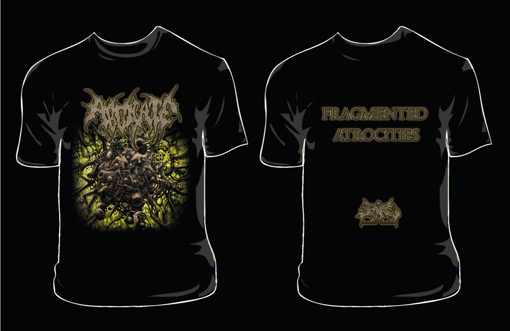 ABDICATE- Fragmented Atrocities T-SHIRT SMALL