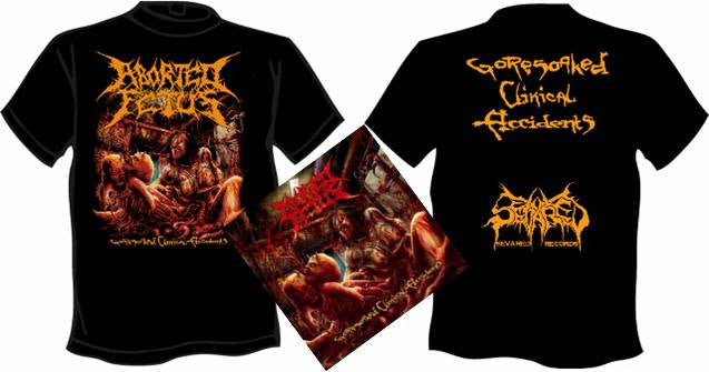 ABORTED FETUS- Goresoaked.. CD / T-SHIRT PACK MEDIUM