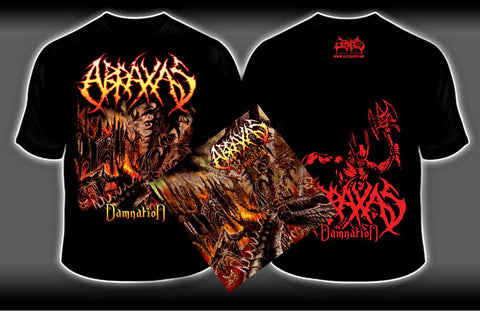 ABRAXAS- Damnation CD/ T-SHIRT PACKAGE X-LARGE