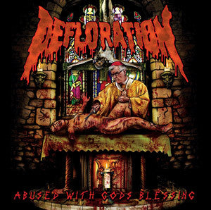 Defloration- Abused With Gods Blessing CD on War Anthem Rec.