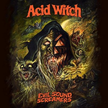 Acid Witch- Evil Sounds Screamers CD on Hells Headbangers