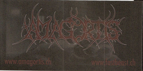 AMAGORTIS- Logo Sticker