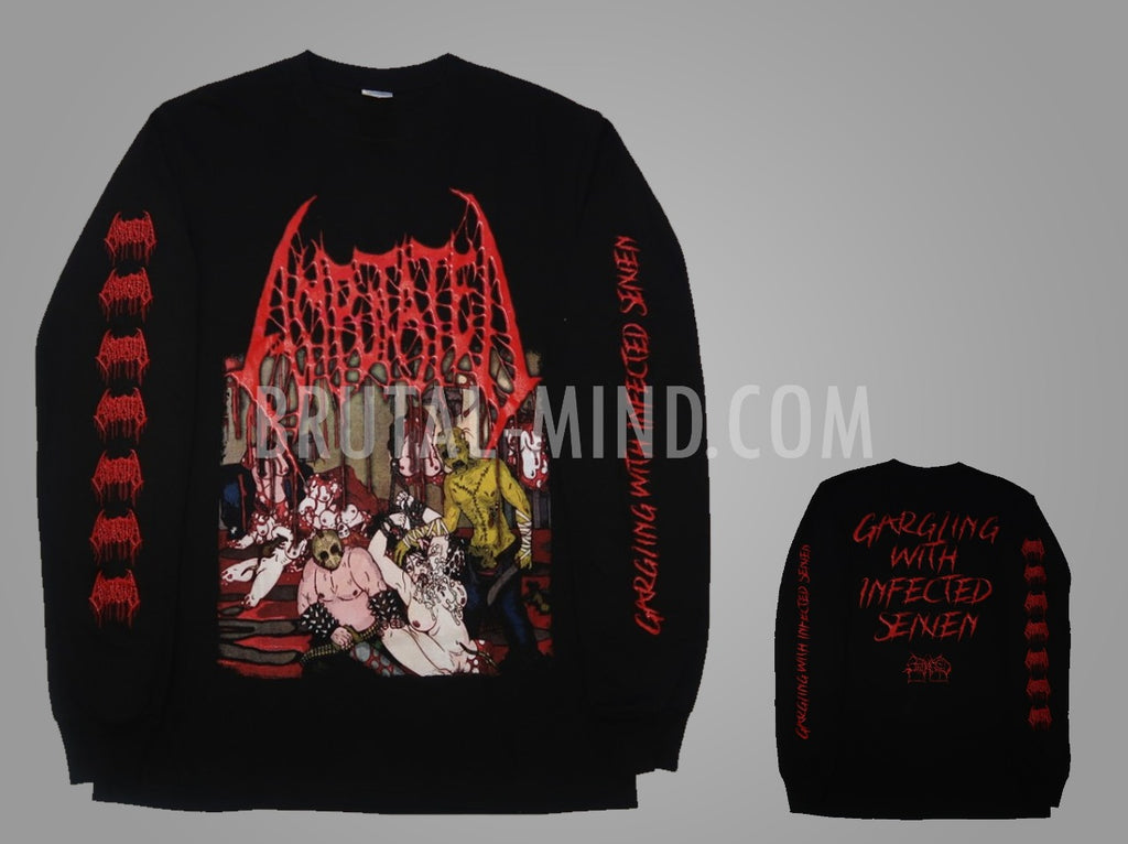 AMPUTATED- Gargling W/ Infected OG LONGSLEEVE T-SHIRT L & XL