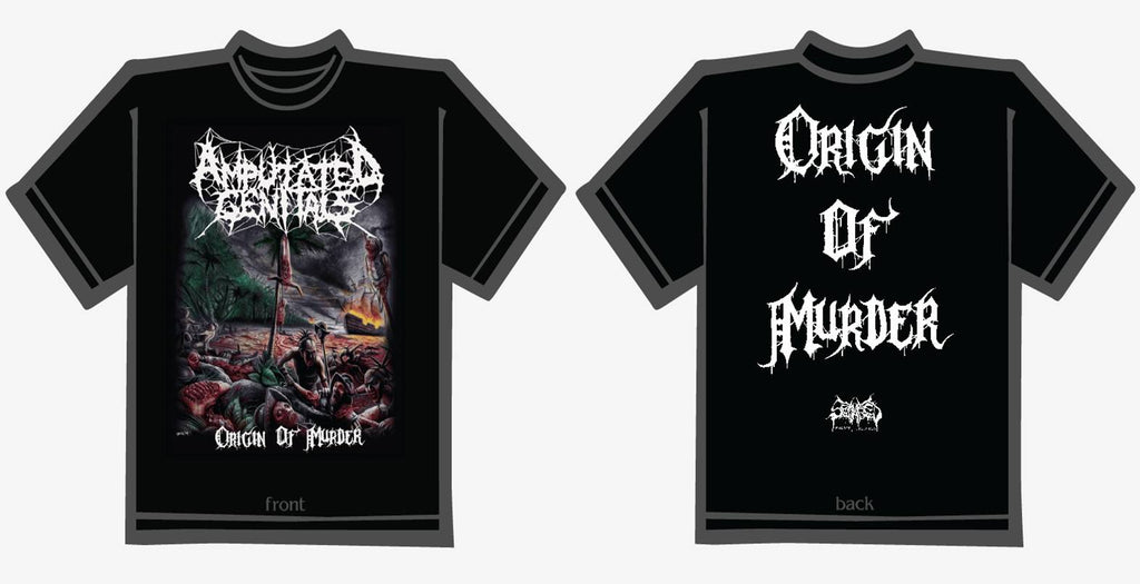 AMPUTATED GENITALS- Origin Of Murder T-SHIRT S-XXXL PRE-ORDER!!!