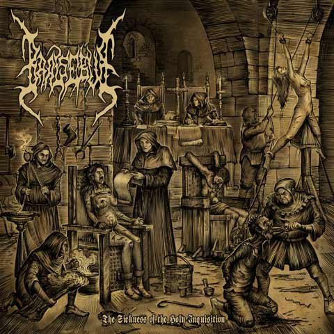 Baalsebub- The Sickness Of The Holy Inquisition CD on Ungodly Ruins
