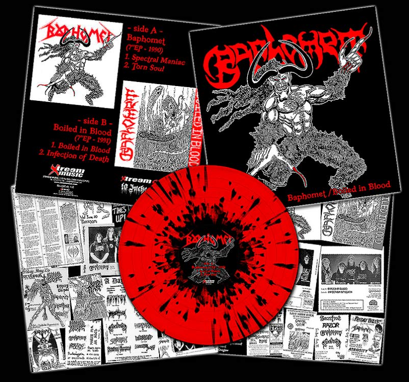 "BAPHOMET- Boiled In Blood 10"" LP VINYL on Xtreem Music"