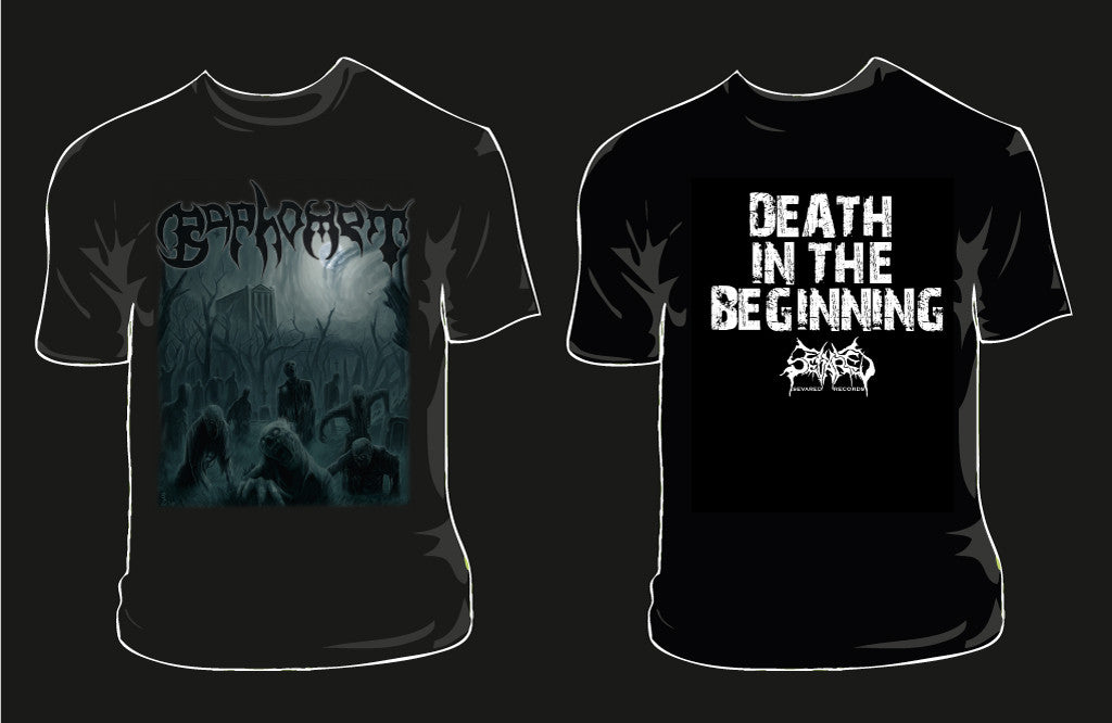 BAPHOMET- Death In The Beginning T-SHIRT SMALL