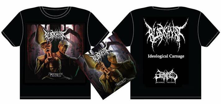 BLASKHYRT- Ideological Carnage CD / T-SHIRT PACKAGE X-LARGE