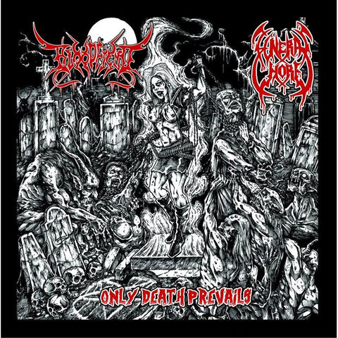 Bloodfiend / Funeral Whore- Only Death Prevails Split CD on Disembodied Rec.