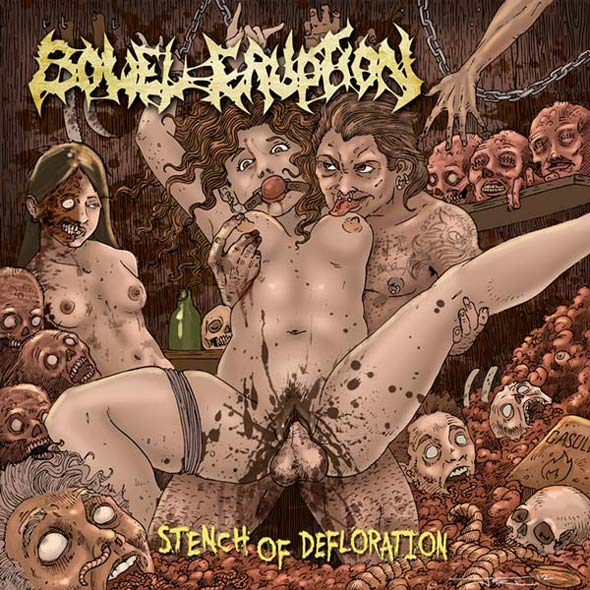 Bowel Eruption / Infestation / Organ Grinder- Split CD on Gore Cannibal Rec.