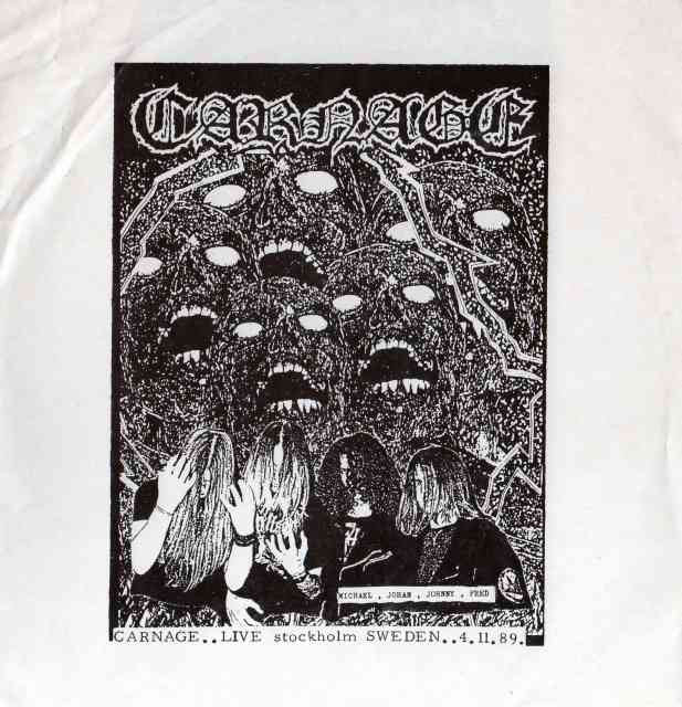 Carnage- Live Stockholm 89 CD on Distorted Harmony
