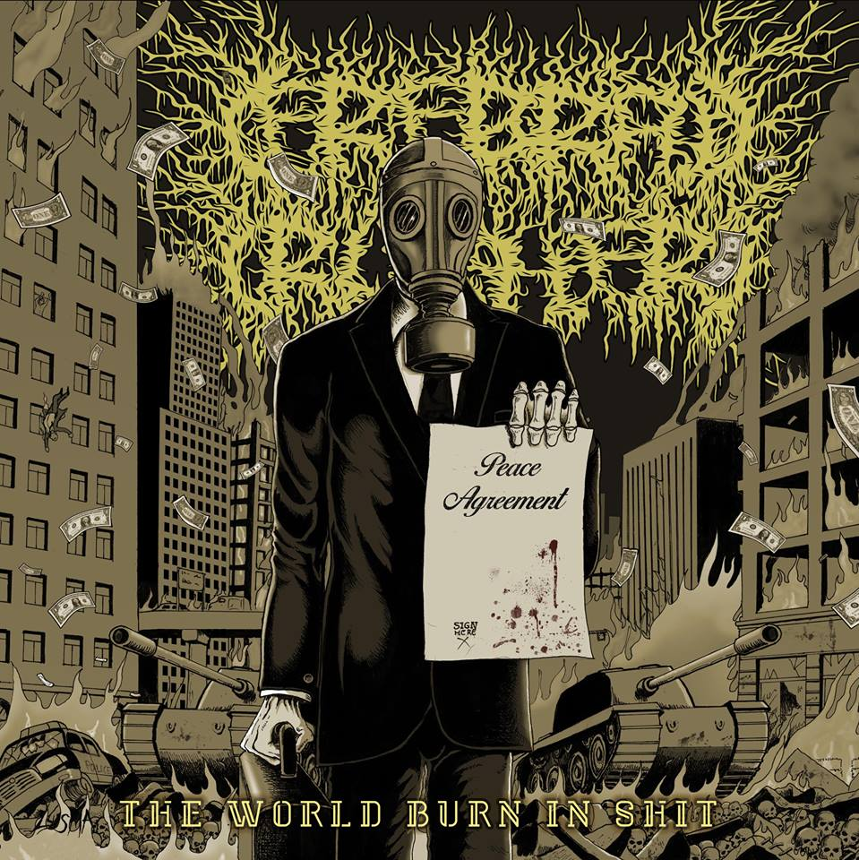 Cerebral Crusher- The World Burn In Shit CD on Gore Cannibal Rec.