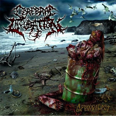 "Cerebral Incubation- Asphyxiating On Excrement 12"" LP VINYL on Gore House Prod."