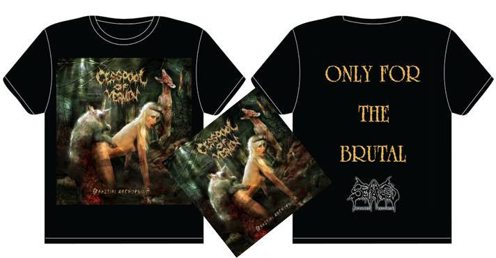 CESSPOOL OF VERMIN- Beastial Necrophilia CD / T-SHIRT PACKAGE S-XXL OUT NOW!!!