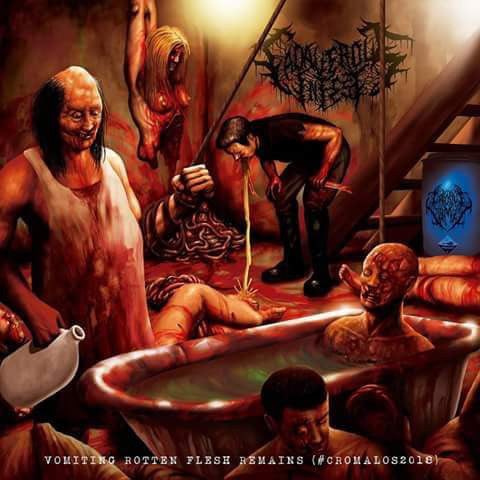 Corrosive Vomit / Cadaverous Infest- Vomiting Rotten Flesh Remains Split CD on Rotten Underground Rec.